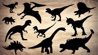 Learn Dinosaur Names Sound with Tyrannosaurus Triceratops Velociraptor Brachiosaurus Ankylosaurus
