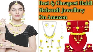 Best & Cheapest Haldi Mehendi Jewellery From Amazon || Unboxing & Review ||Beauty Blend Vlogs