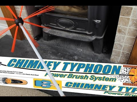 HOW TO Clean Your Log Burner Flue with CHIMNEY CYCLONE
