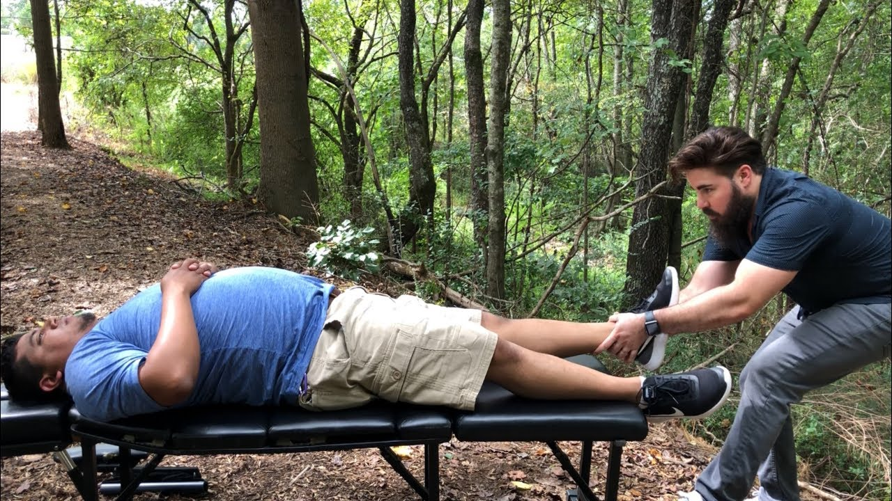 Landscaper gets FULL BODY Chiropractic Adjustment by DR JOSEPH CIPRIANO
