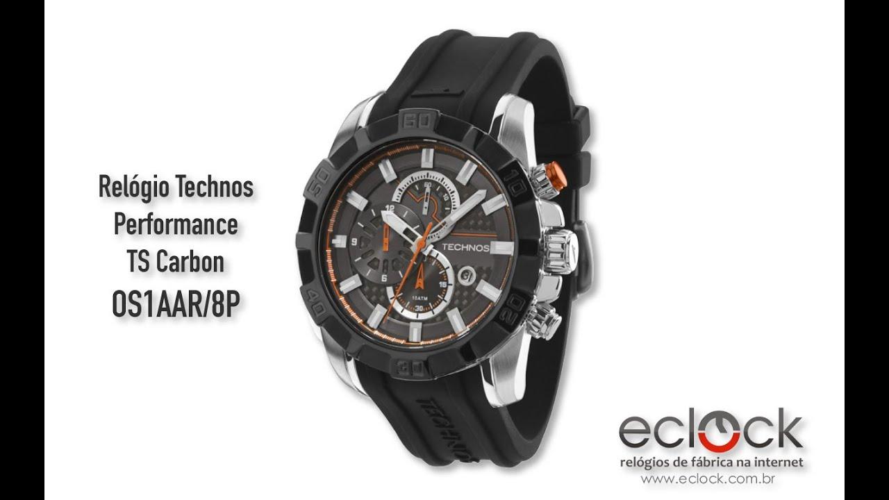 fdf7fe2a2e6d7 Relogio Technos Masculino Performance TS Carbon OS1AAR 8P - Eclock ...