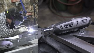 Easiest Way to Sharpen Tungsten for TIG Welding - TG1800 Tungsten Grinder by the Eastwood