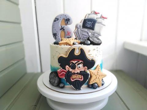 Пиратский торт для мальчика своими руками