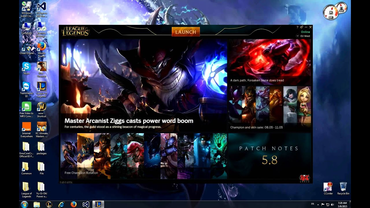 How to fix League Of Legends Black Launcher Screen !