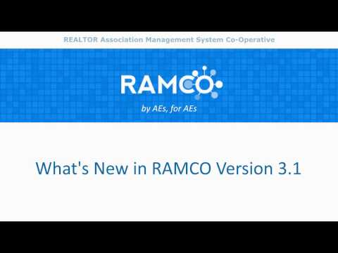 Whats New in RAMCO R3.1