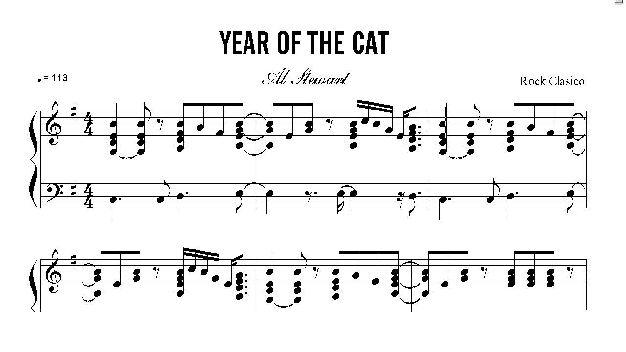 Al Stewart Year Of The Cat If It Doesnt Come Naturally Leave It