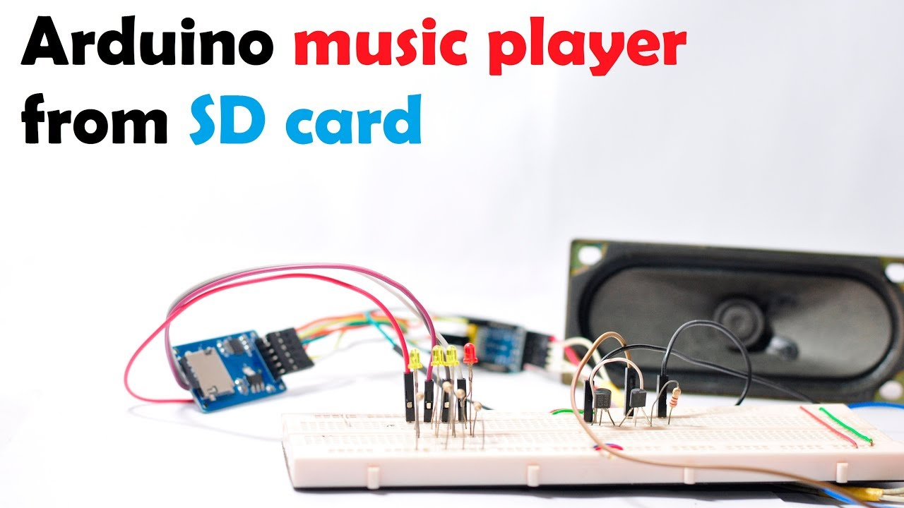 Arduino Music Player From Sd Card Tutorial Youtube Wiring