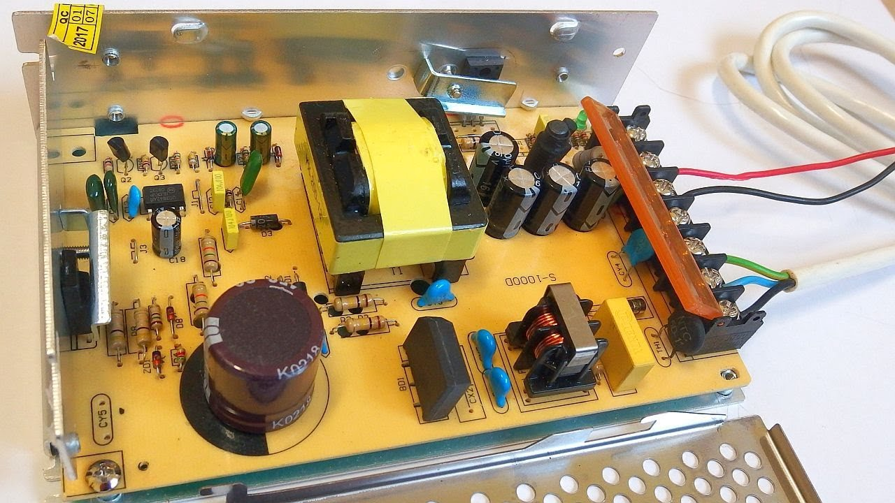 12V 10A switching power supply (with schematic and