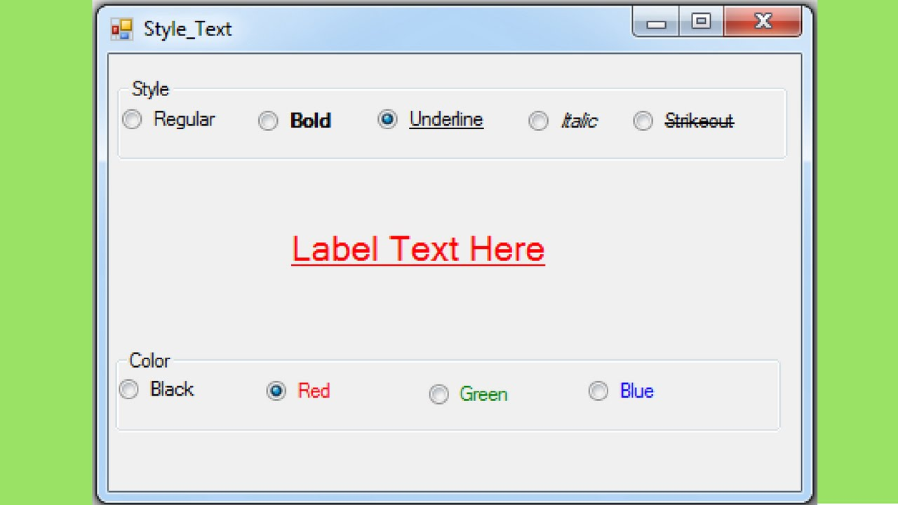 VB NET - How To Style Text Font In Visual Basic  Net [ with source code ]
