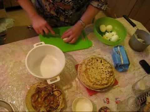Рецепт блинчиков на кефире толстые с дырочками