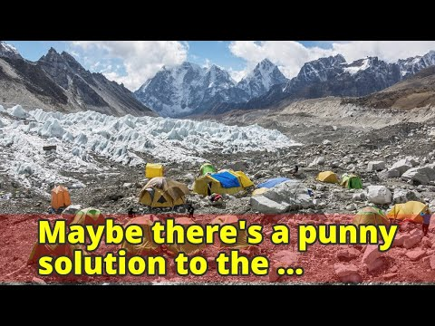 Maybe there's a punny solution to the Himalayas' rubbish problem