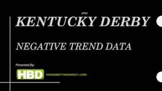 2017 Kentucky Derby Negative Trend Data
