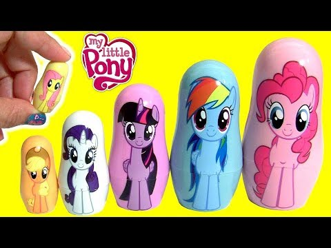 Thumbnail: MY LITTLE PONY THE MOVIE FASH'EMS Mermaid Pinkie Pie MLP PLAY-DOH Stacking Cups