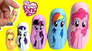 MY LITTLE PONY THE MOVIE FASH'EMS Mermaid Pinkie Pie MLP PLAY-DOH Stacking Cups
