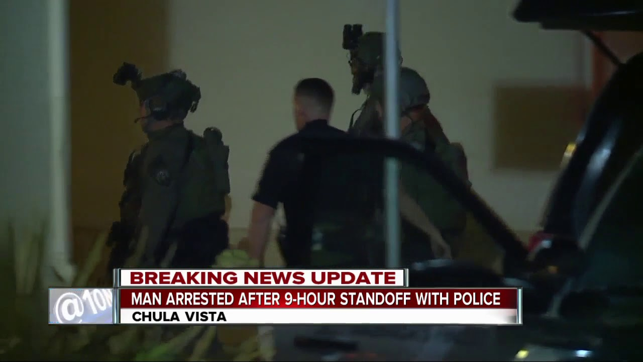Standoff in Chula Vista neighborhood ends with 2 arrests