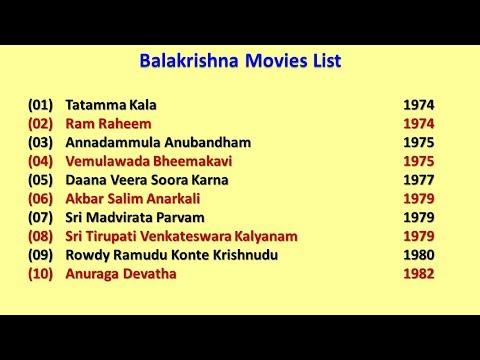 Balakrishna Movies List