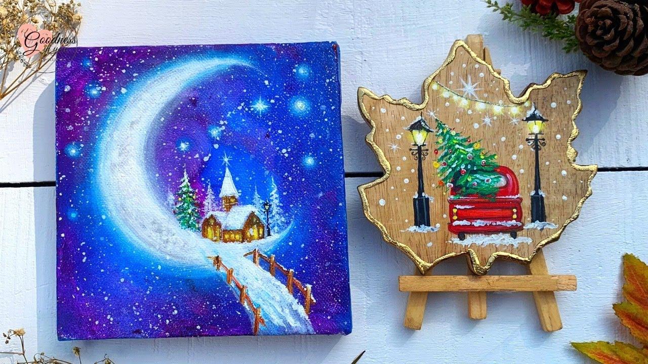 Easy Christmas Gift Ideas Diy Painting And Card Ideas Youtube