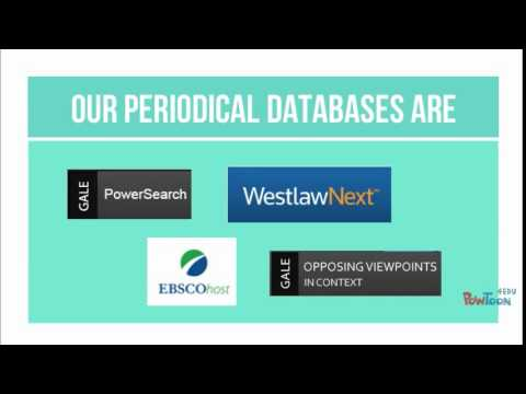 Types of Sources: Periodical Databases