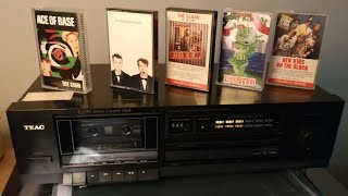 TEAC V-275C Compact Cassette Deck and Tapes Galore!!