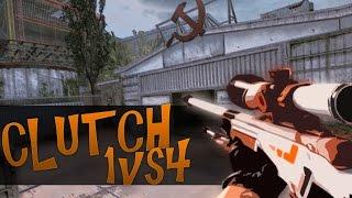 cs go cloutch 1vs4 with awp asiimov factory new