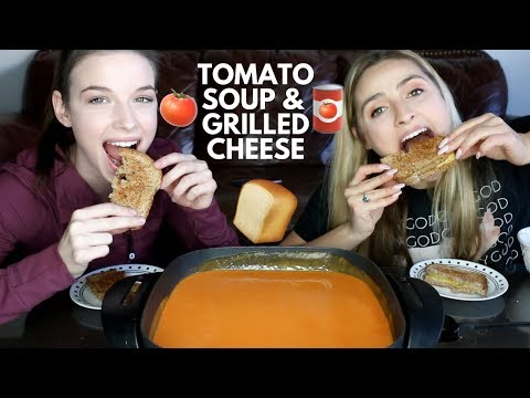 Tomato Soup and Grilled Cheese Mukbang!