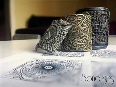 Polymer Clay Tutorial''Sona Tiles'' or ''Sona Style Filigree'' , Full WIP