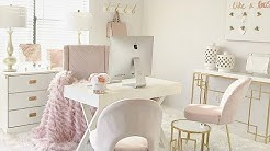 NEW! Blush Pink Home Office Tour