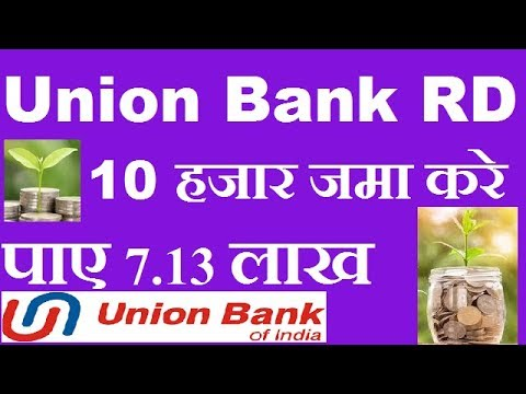 UNION BANK OF INDIA RD || UBI RECURRING DEPOSIT INTEREST RATE