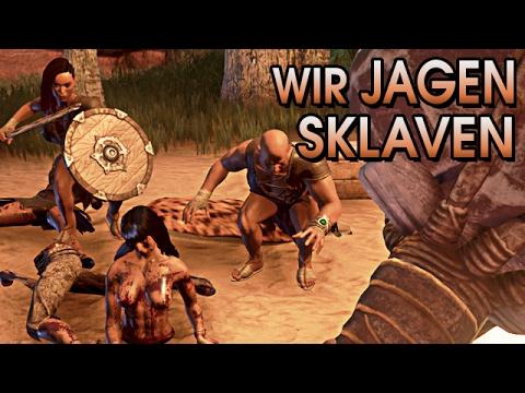 Conan Exiles German Gameplay - Wir gehen Sklaven jagen