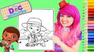 Coloring Doc McStuffins & Moo Moo Coloring Page Prismacolor Pencils | KiMMi THE CLOWN