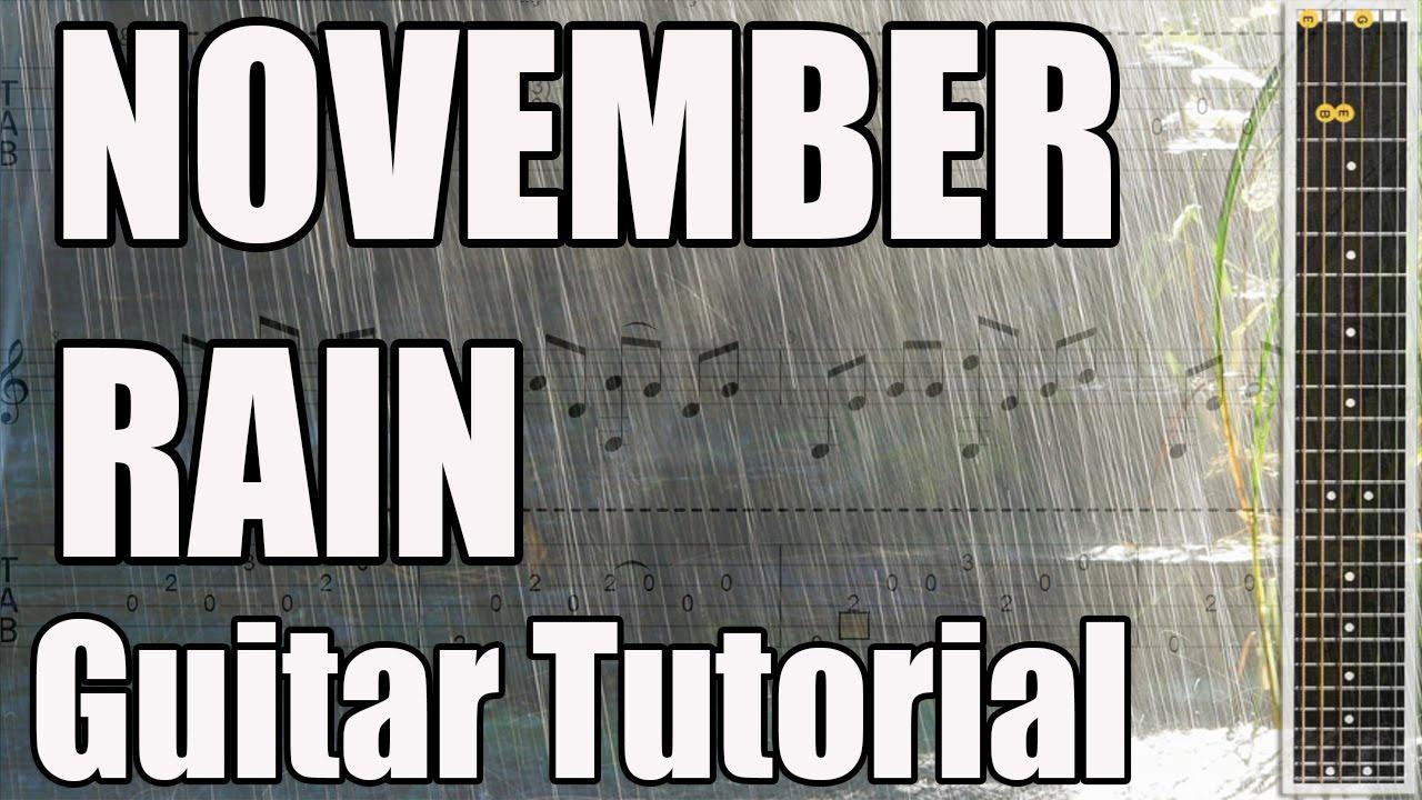 November Rain Guitar Tutorial Easy Guitar Songs For Beginners