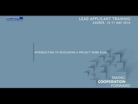 Introduction to developing a project work plan