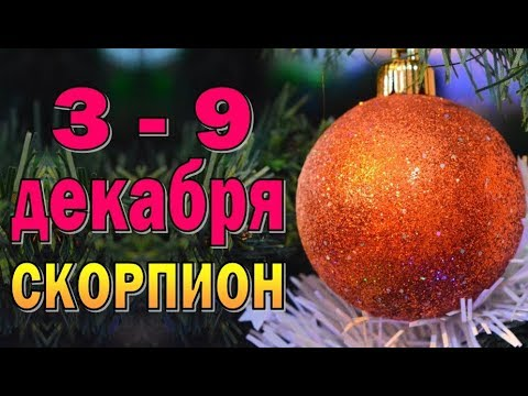 Таро прогноз (гороскоп) с 3 по 9 декабря — СКОРПИОН