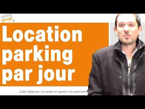 Location de parking à la journee