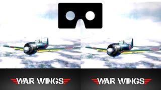 Side by Side ✈ Fight Game War Wing SBS 3D [VR Box Google Cardboard] split screen not 360
