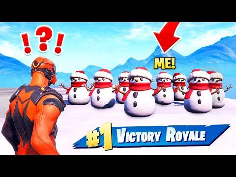we made a SNOWMAN ARMY and WON! (EPIC)