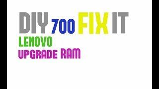 DIY - how to upgrade RAM, HDD on SSD LENOVO 700  700-15ISK, ideapad 700, tutorial