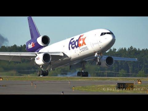 FedEx MD-10 Flawless Landing | GH4 Camera
