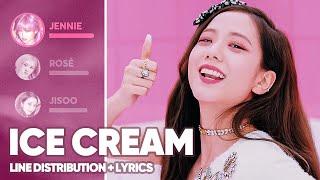 BLACKPINK, Selena Gomez - Ice Cream (Line Distribution Lyrics Color Coded)