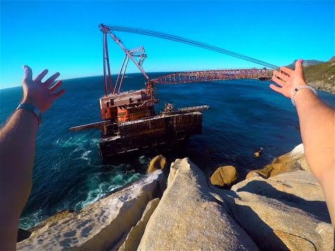 INSANE SHIPWRECK EXPLORING IN AFRICA - GoPro HERO5