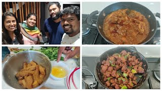 A day with yummy tummy Aarthi/Guest dinner menu/Prawn kola urundai/Fish fingers
