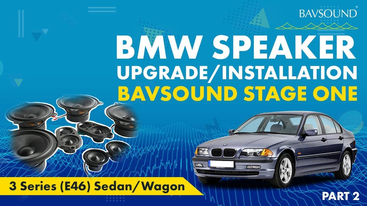 medium resolution of bavsound 2 3 bmw 3 series e46 sed wag speaker upgrade install 2 3 mov youtube
