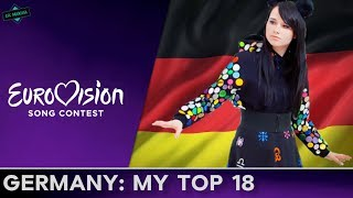 Germany In Eurovision: MY TOP 18 (2000-2017)