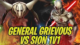 GENERAL GR EVOUS VS S ON 1V1 OMG Awesome Grievous vs Revan  Traya Battles  Galaxy of Heroes