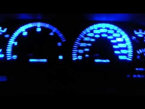 Dodge ram blue LED dash gauge lights mod