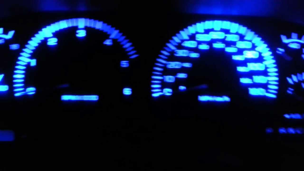 dodge ram blue led dash gauge lights mod [ 1280 x 720 Pixel ]