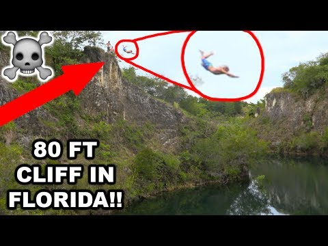 INSANE 80ft CLIFF JUMP IN FLORIDA?!?