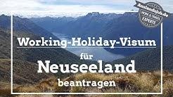 Working Holiday Visum für Neuseeland online beantragen