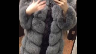 Artic fox fur coat and vest  2in1.  Gray color. (video review and real photo)