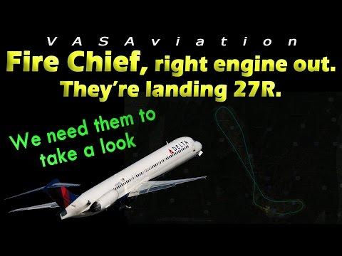 [REAL ATC] Delta MD88 RIGHT ENGINE FAILURE at Atlanta!